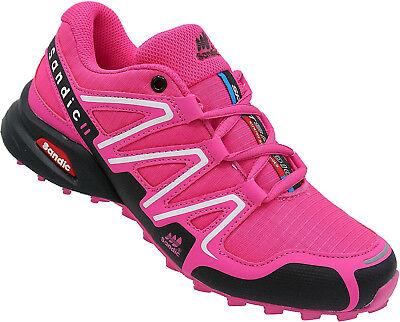 Damen Laufschuhe Sportschuhe Turnschuhe Sneaker Neon Nr. 482 fuchsia-schwarz Fuchsia Damen Schuhe