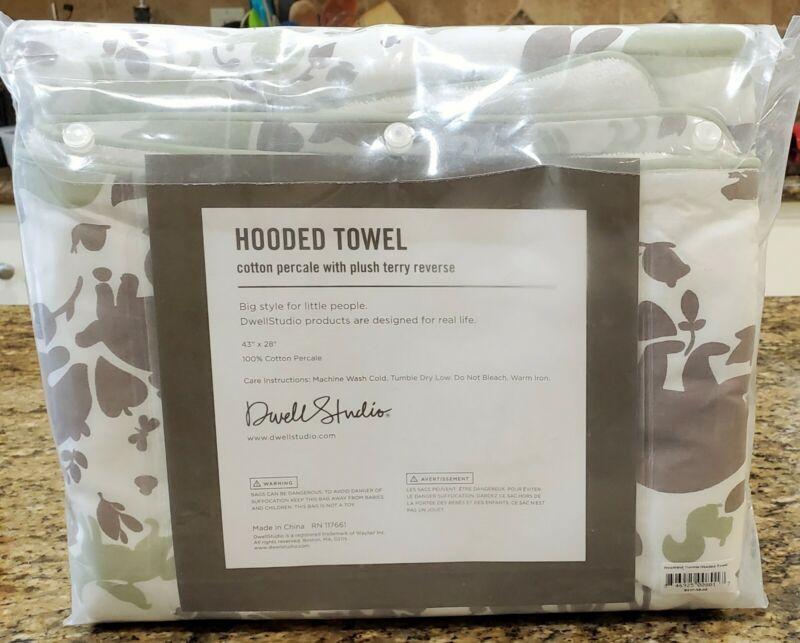 DWELL STUDIO Woodland Tumble Mocha Cotton Terry Back Hooded Towel NEW!