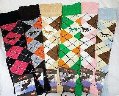 Ladies Equestrian Knee High Socks, Horse, Pony, Riding, Boots, Knee High, UK 4-7