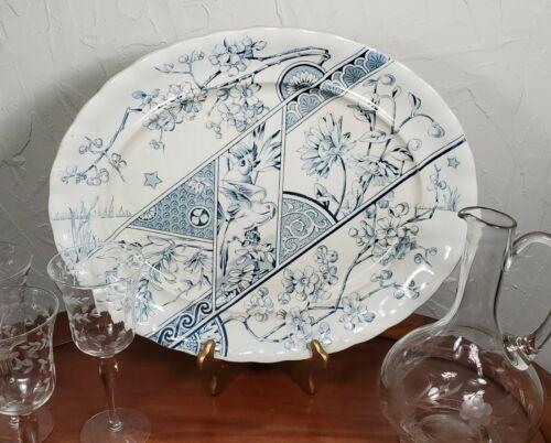 Antique Victorian F. Winkle & Co. Melbourne Aesthetic Transferware Platter