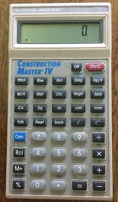 Construction Master Iv 4 Calculator Model 4045 Calculated Industries V 2.0