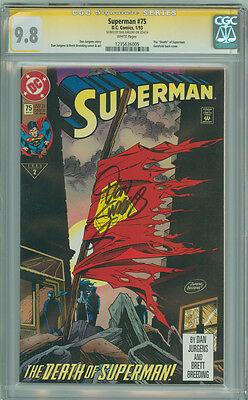 "Superman 75 CGC 9.8 NM/M SS Signature Series DC 1993 Classic ""Death"" of Superman"