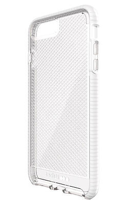 """Tech21 EVO Check out Case for iPhone 7 Plus iPhone 8 Plus 5.5"""" Clear White"""
