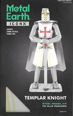 2018 Fascinations ICONX TEMPLAR KNIGHT 3D Laser Cut Steel Me