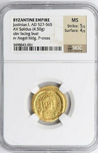 Byzantine Empire Gold Coin - Justinian I, Solidus (4.5 g) AD 527-565 among best