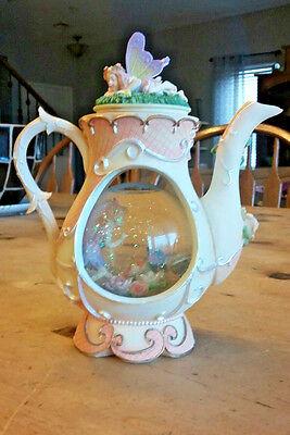 Fairy Snowglobe Musical Teapot Globe sings My Favorite Things HTF