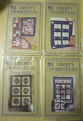 4 liberty Homestead Quilt Patterns Scrap Heart Sailboats Prairie Dresden Plate
