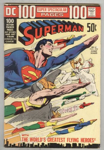 Superman #252 June 1972 VG 100-Page Giant – classic cover