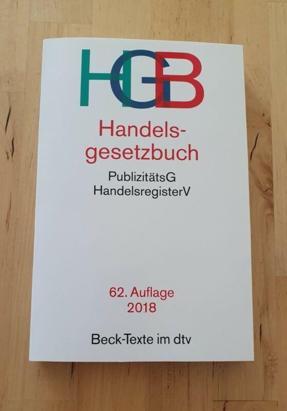 Handelsgesetzbuch HGB, 62. Auflage, 2018, Beck-Texte, gebraucht in gutem Zustand