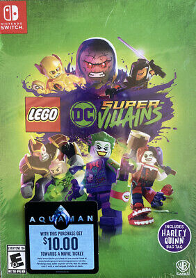 LEGO DC Super Villains Switch Nintendo with Harley Quinn Bag Tag New Sealed