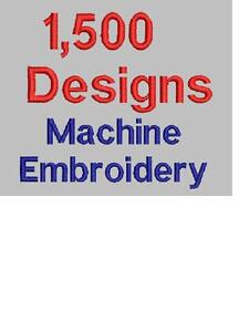 CD Library of 1,500 Fun Embroidery Machine Designs - FREE SHIPPING!