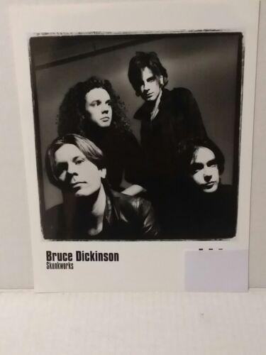 """BRUCE DICKENSON - PROMO PICTURE - RARE - 8"""" X 10"""" + STICKERS - FREE SHIPPING"""