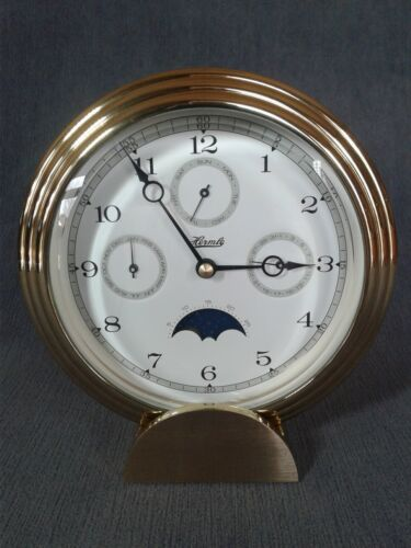 Hermle Brass Clock with Multifunctional Dial # 22641