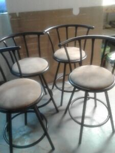 Bar stools, high chairs