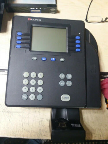 Kronos Series 4500 Time Clock System w/ 8602800-002 Touch Reader w/ power supply
