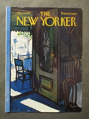 Vintage New Yorker Magazine  Cover Only  May 17 1969   Arthur Getz Art
