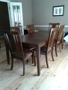 Wood dining table w/ chairs