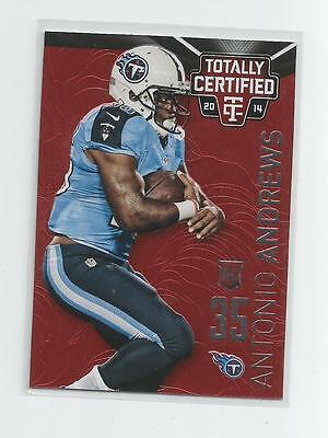2014 Totally Certified   ANTONIO ANDREWS   Red  006/100