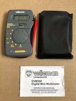 Vintage Velleman Dvm300 Digital Mini Multimeter