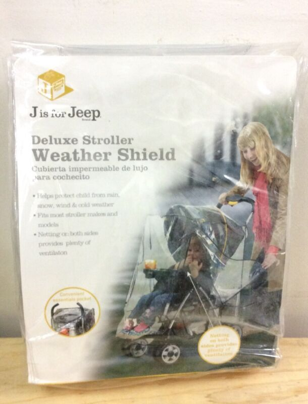 J is for Jeep Deluxe Stroller Weather Shield New Free Shipping