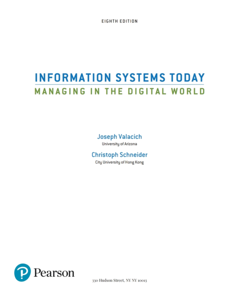 Information systems today managing the digital world8th edition information systems today managing the digital world8th edition brisbane region image 2 fandeluxe Gallery