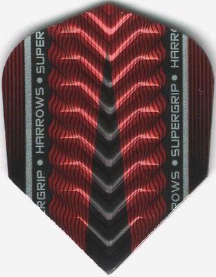 Red Harrows Supergrip X Dimplex Ribs Dart Flights  3 Per Set