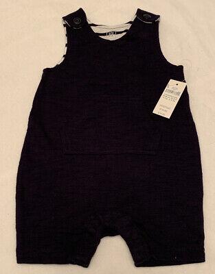 🌟BNWT🌟Baby GAP Navy Dungaree Shorts. Size 3-6 Mths
