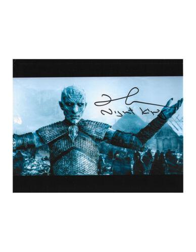 "10x8"" Game Of Thrones Night King Print Signed by Richard Brake 100% + COA"