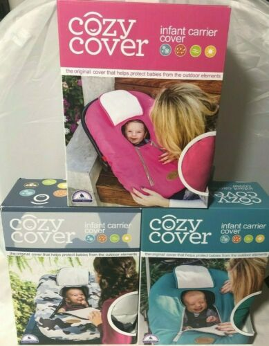Cozy Cover Infant Carrier Cover Protects From Outdoor Elements Pink Camo or Teal