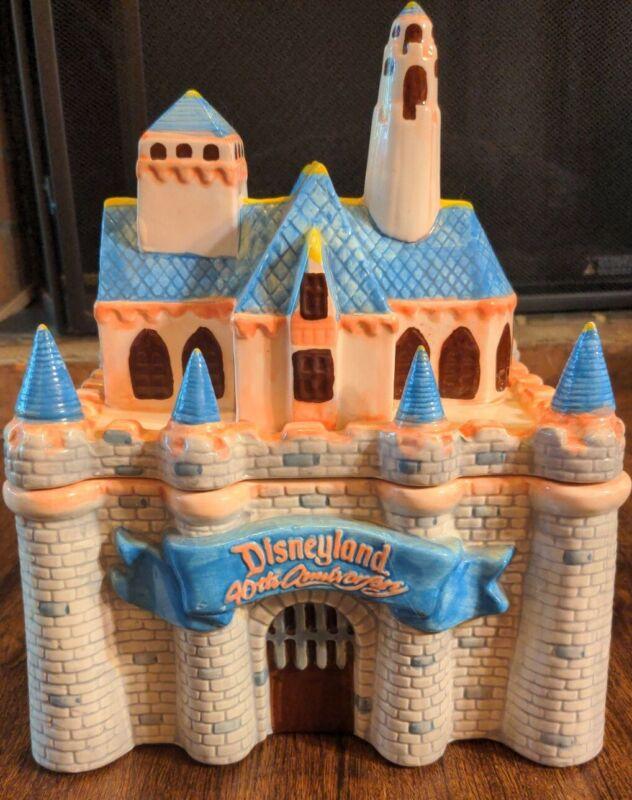 Disneyland 40th Anniversary Sleeping Beauty Disney Castle Cookie Jar