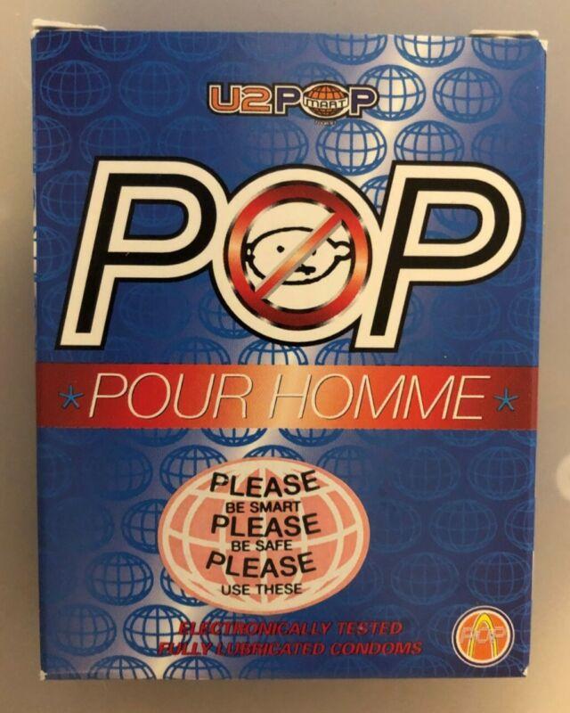 Vintage U2 POPMART Condoms!! 1997 US Tour! Pour Homme!!