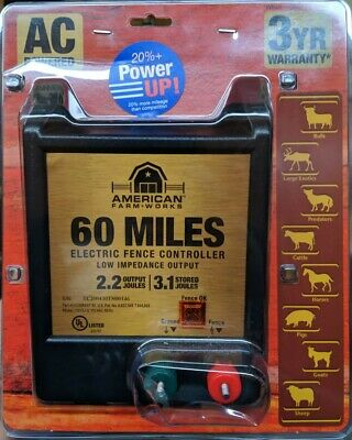 American Farmworks 60-mile Ac Powered Low Impedance Charger Eac60mai-r2 - Cr