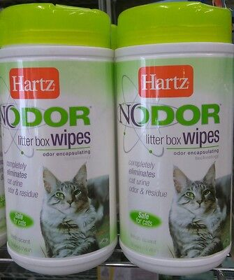 Clean Cage Wipes (Hartz NO ODOR LITTER WIPES Eliminates Small Animal Urine Odor & Cleans Lot of)