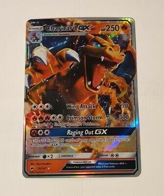Charizard GX 20/147 - Pokemon Card - Burning Shadows - Mint - Gift