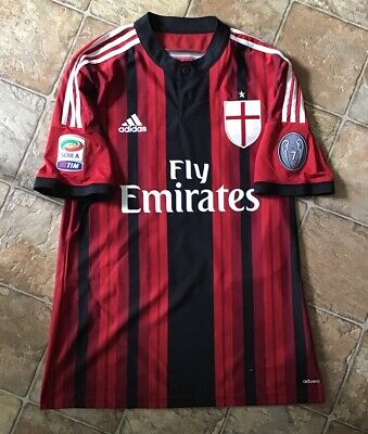 Adidas AC Milan 14/15 Home Match Player Issue Soccer Jersey Size L