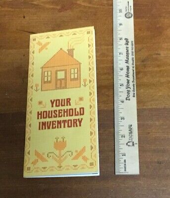 Vintage Household, Furniture Inventory Booklet from Fireman's Fund Insurance ()