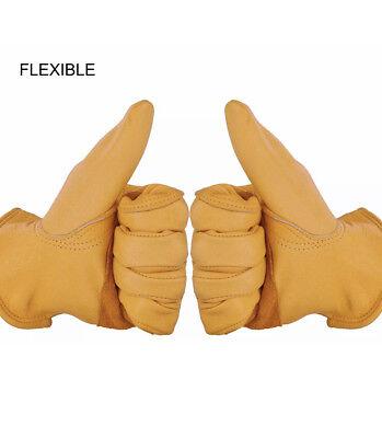 Heavy-duty Cowhide Work Gloves Leather Work Gloves For Men Women