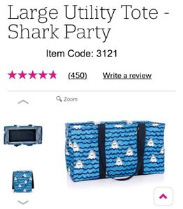 Thirty-one Large Utility Tote. NEW in package. Shark
