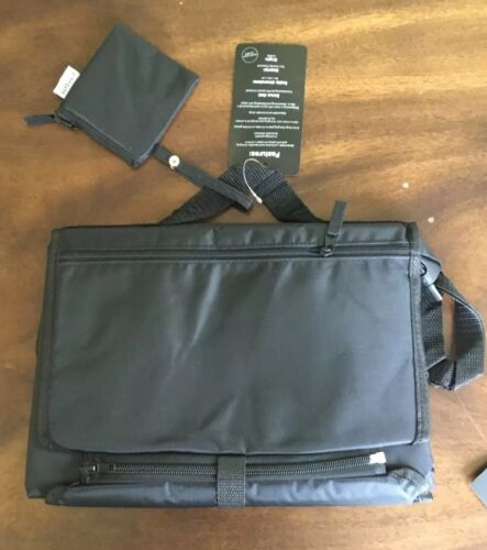 Portable Changing Pad For Diaper Bag Includes Pacifier Holder All Black  - $14.99