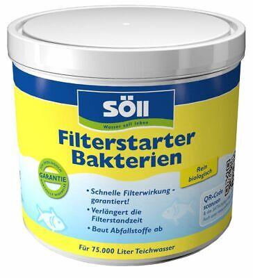 Söll Filter Starter Bacteria, 500 G for 75.000 L, Bakterienkuturen for Every