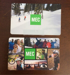 $125 in Mountain Equipment MEC Co op Gift Cards