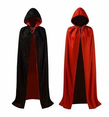 Vglook Unisex Kapuzen - Wende-Umhang * Halloween * - Roter Umhang Kostüme