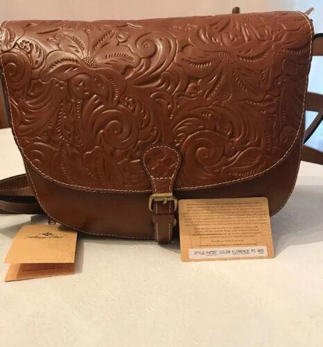 NWT~ Patricia Nash Tooled Florence Rosolini Leather SaddleBa