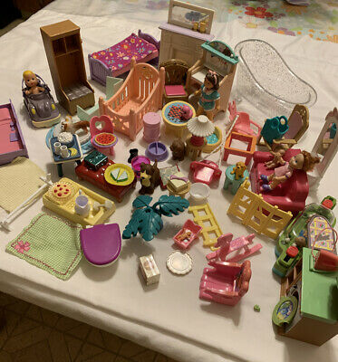 Assorted Fisher Price Loving Family Doll House Furniture 60+ Pieces