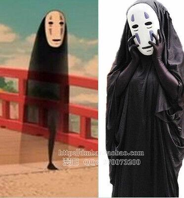 Studio Ghibli Halloween Costumes (Studio Ghibli Spirited Away Kaonashi No Face Faceless Cosplay Costume)