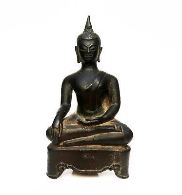 Antique Buddha Bronze Province of Kamphaeng Phet Thailand 15e