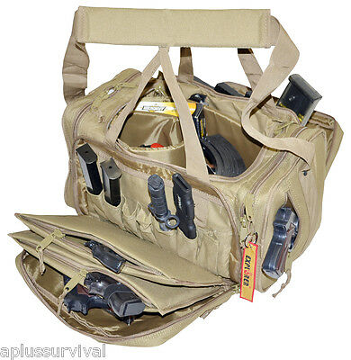 Coyote Brown Explorer Tactical Range Ready Bag Gun Pistol Survival Emergency Kit Range Ready Bag