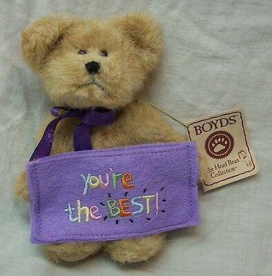 "Boyds Thinkin' of Ya TOPPS ""You're The BEST"" TEDDY BEAR 5"" Plush STUFFED Toy NEW"