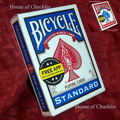 RED PK BICYCLE NEO MAGNET PLAYING CARD Magnetic Magic Trick Shim Gaffed Gaff
