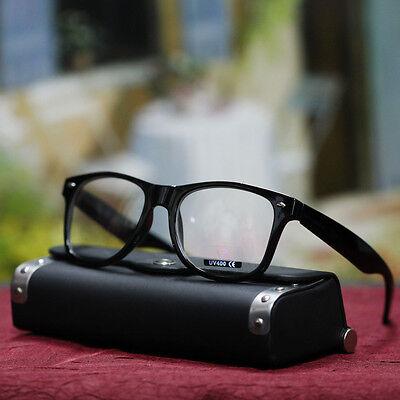 MEN MENS CLEAR LENS GLASSES STYLISH GEEK NERD EYEWEAR BLACK (Nerd Glasses For Men)